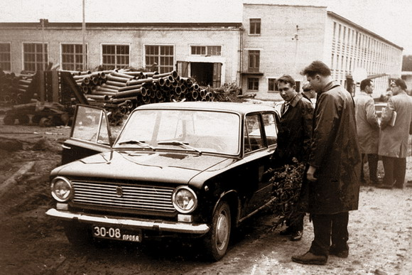 vaz - Первый FIAT-124 на Дмитровском автополигоне, 1966