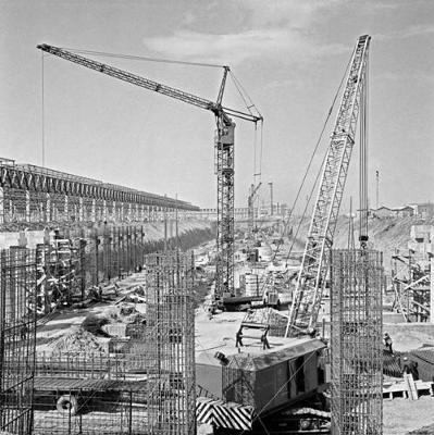 vaz - Строительство главного корпуса, 1968 г.
